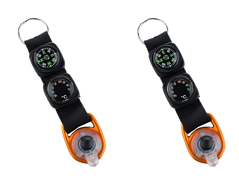 Munkees Llavero con brújula termómetro LED, Aluminio ...