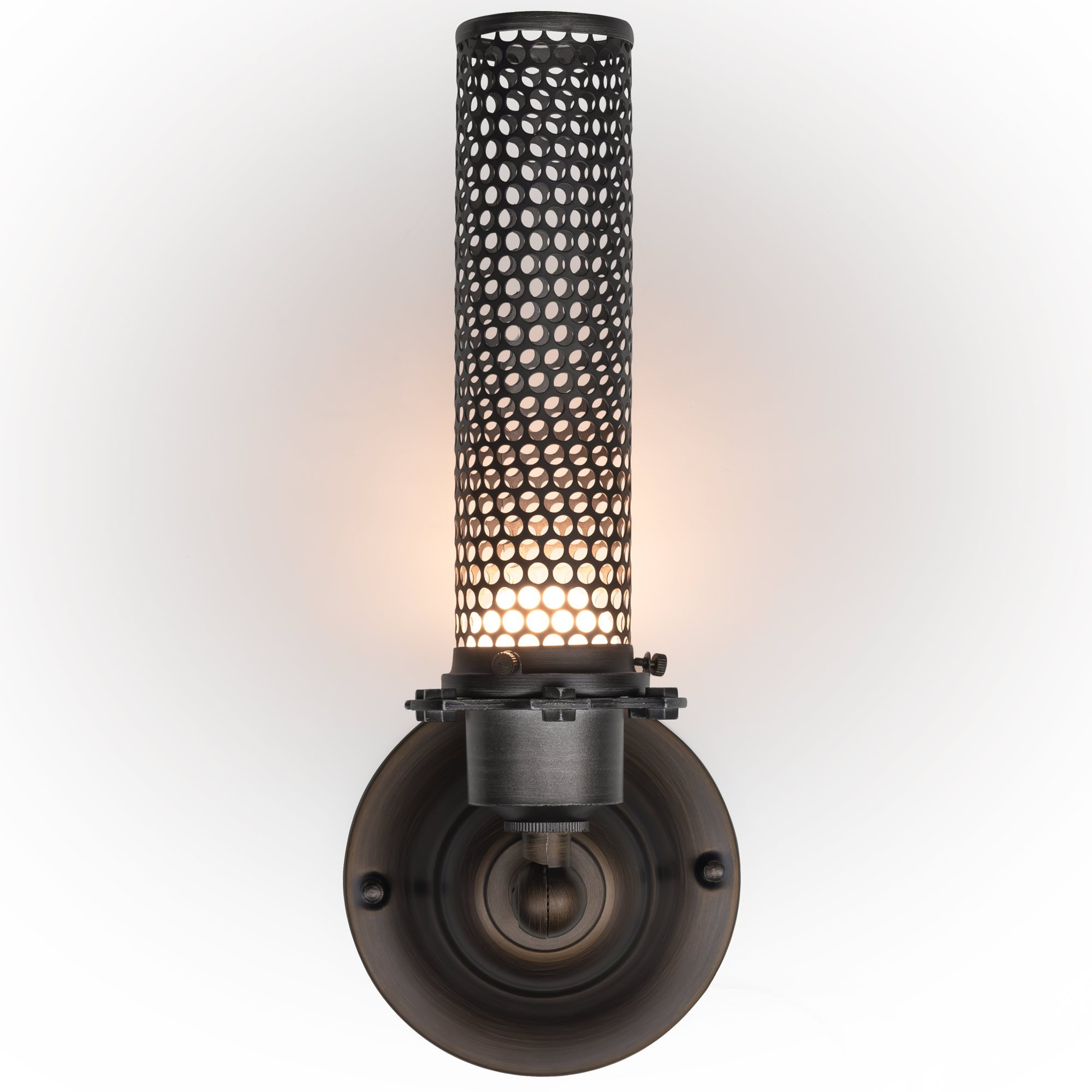 Light Blue™ LED Wall Sconce Lighting, Wrought Iron Metal Mesh, 18-inch 3000K Warm White, 300 Lumens, Dimmable, ETL and Energy Star Listed