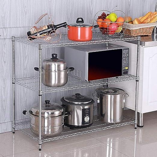 IUYWL Rejilla De Horno Microondas De 3 Capas, Rejilla De Cocina ...