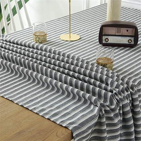 Tovaglie Di Lino Moderne.Stillshine Tovaglie Da Tavolo Striscia Rettangolo Cotone E Lino