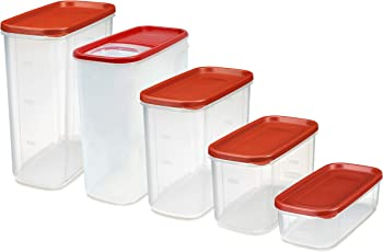 10-Piece Rubbermaid Modular Premium Food Storage Containers with Lids