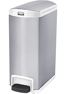 rubbermaid commercial slim jim end stepon trash can stainless steel 13 gallon