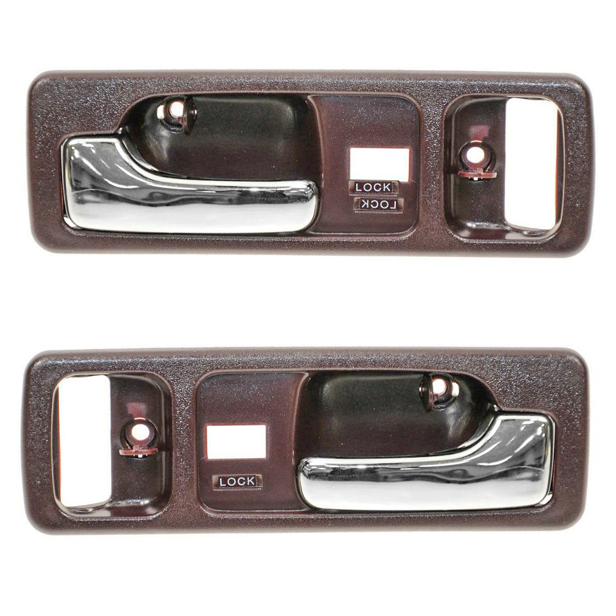 New Set of 2 Exterior Door Handles Front Driver /& Passenger Side LH RH Pair