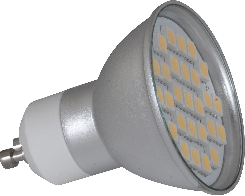 230/V GU10/LED 5/W Blanc Froid 6000/Kelvin 460/lm couleur chrome Douille de lampe avec c/âble de raccordement inclus Salle de bain Spot IP65/
