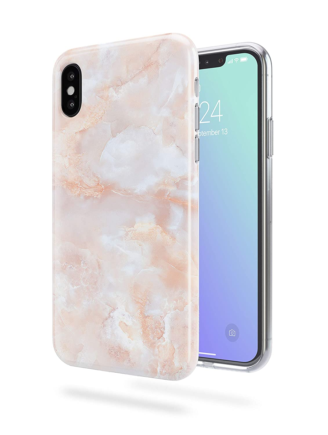 quality design 2b3d2 f1ca0 Recover Rose Marble iPhone X Case/iPhone Xs Case. Soft Protective Silicone  Cover for iPhone X & XS. (Rose)