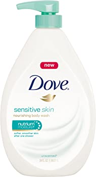 Dove Sensitive Skin Pump 34 Ounce Body Wash