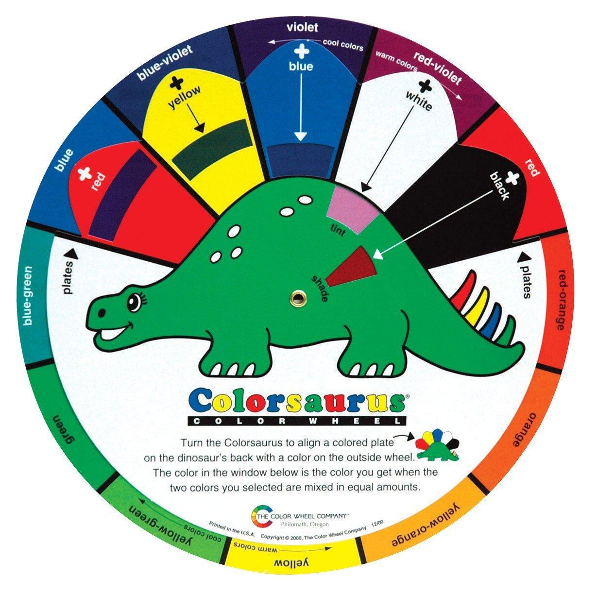 Amazon.com: Color Wheel Colorsaurus Children Color Wheel, 9-1/4 in ...