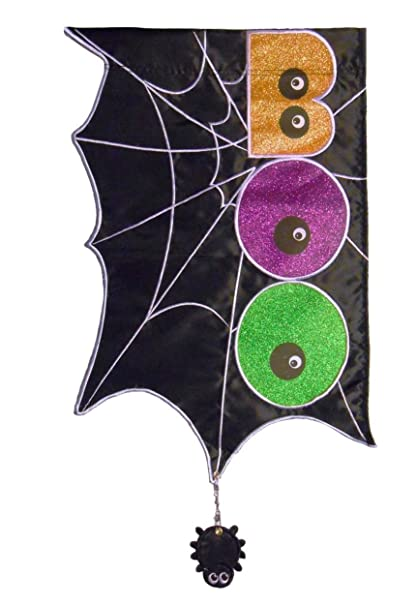 Boo Web Embellished Applique Garden Flag