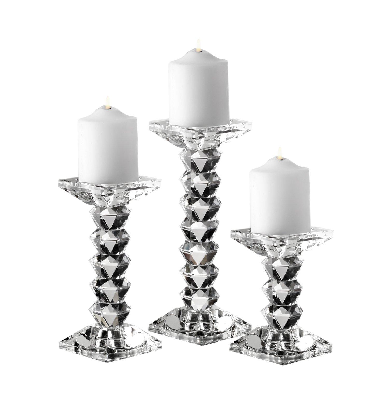 Fifth Avenue Crystal Westport Candle Holders, Set of 3