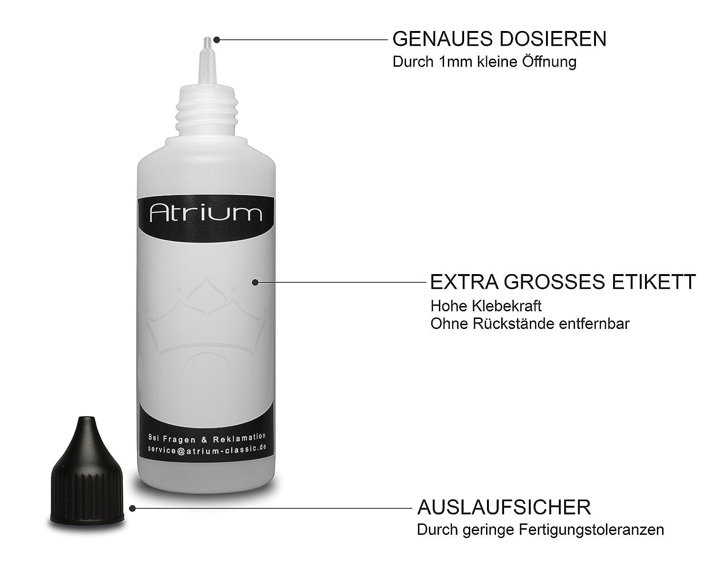 11 x 100 ml botellas para líquidos | sin sustancias nocivas | botellas para eLiquid | Cuentagotas para mezclar líquidos como por ejemplocolores, salsas, ...
