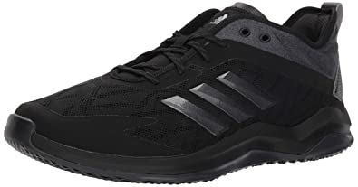 adidas Men s Speed Trainer 4 Baseball Shoe Black Night Metallic Carbon 4 ... 58fac4d45