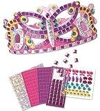 Orb Factory - ORB62903 - Loisirs Créatifs - Sticky Mosaiques Autocollantes aux Numéros - Couronne de Princesse Papillon