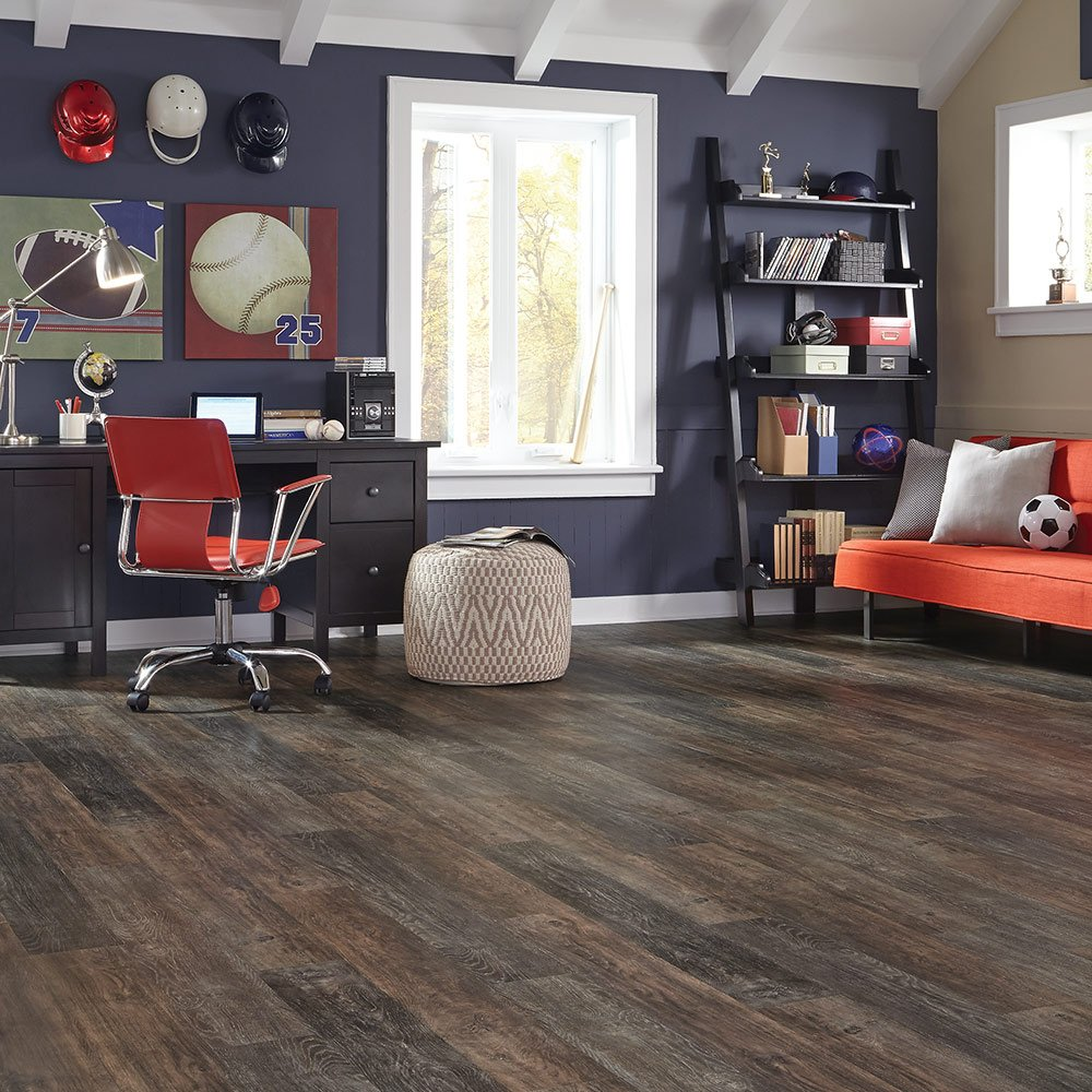 Mannington Hardware ALP630 Adura Glue Down Distinctive Collection Luxury Iron Hill Vinyl Plank Flooring, Smoked Ash by Mannington (Image #2)