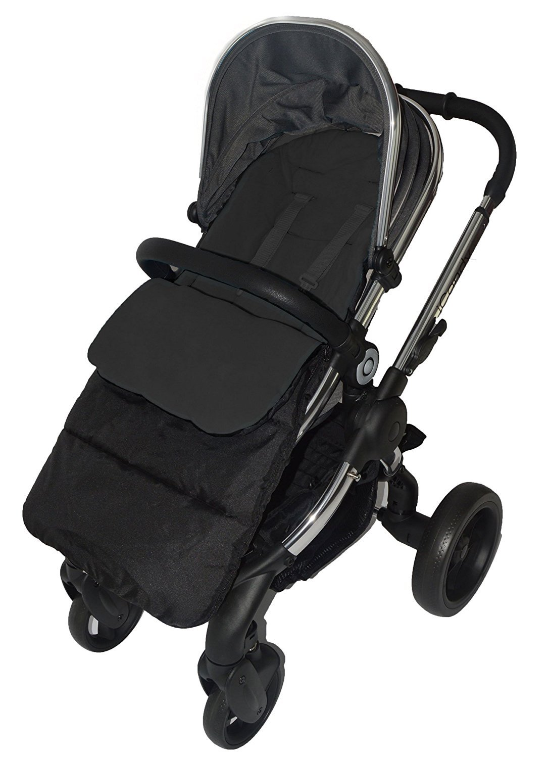 Footmuff Cosy Toes Compatible with Hauck Pushchair Black Jack