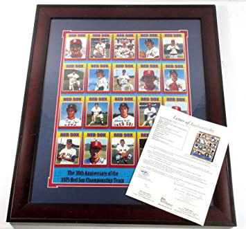 15efa307ae7 Image Unavailable. Image not available for. Color  1975 AL Champion Boston  Red Sox Team Signed 16x20 Poster ...