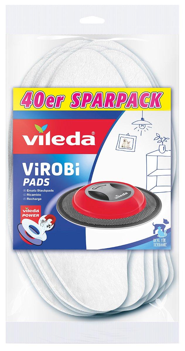 Vileda Virobi Slim Ersatz-Staubpads, 20er Pack 136133 140460