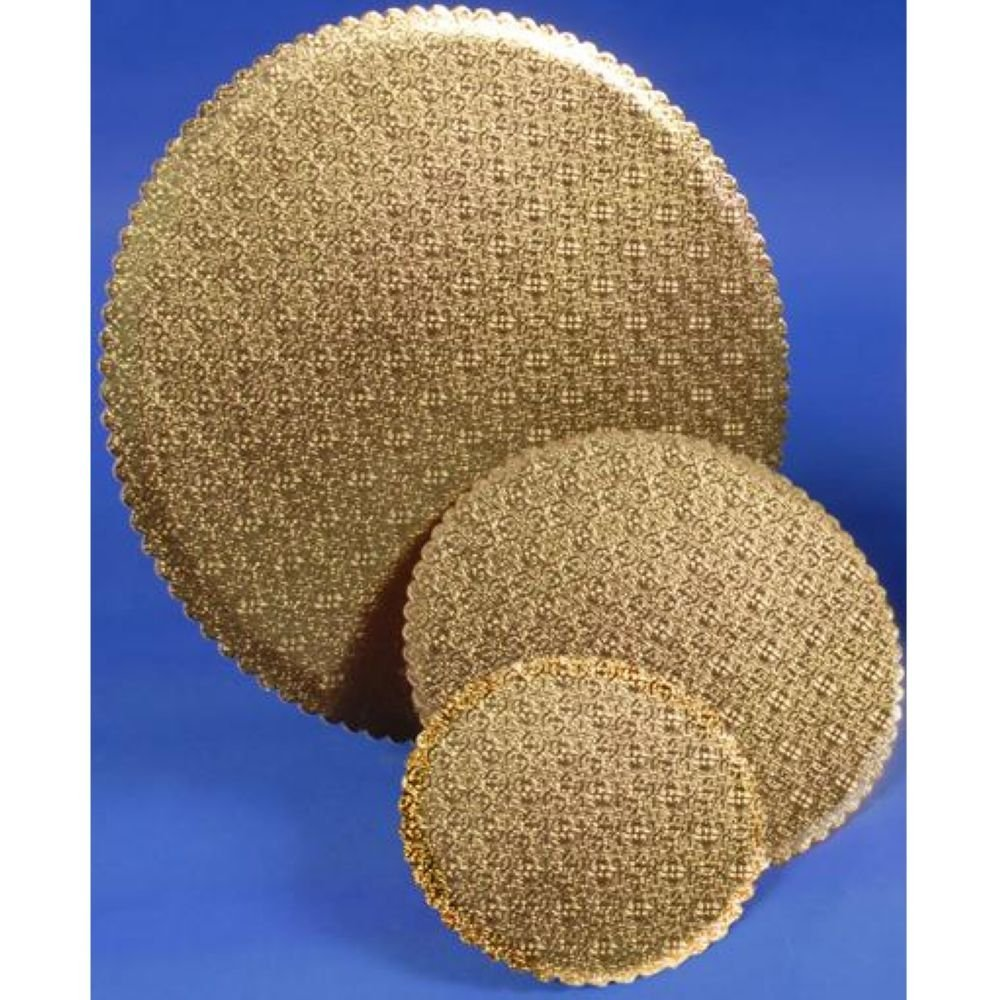 Boxit Gold Scalloped Cake Circle, 16 inch -- 100 per case.