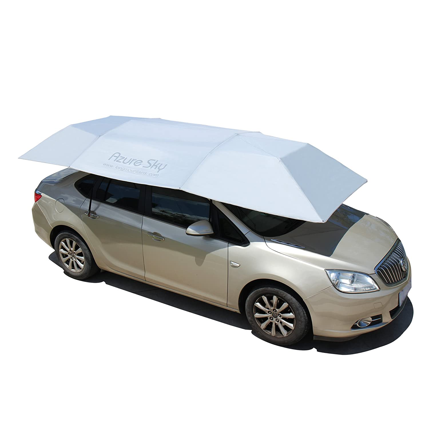 Azure Sky ASY-F Universal Car Tent Movable Carport Folded Portable Automobile Protection Car Umbrella Sunproof Car Canopy Cover with Remote Control - Silver