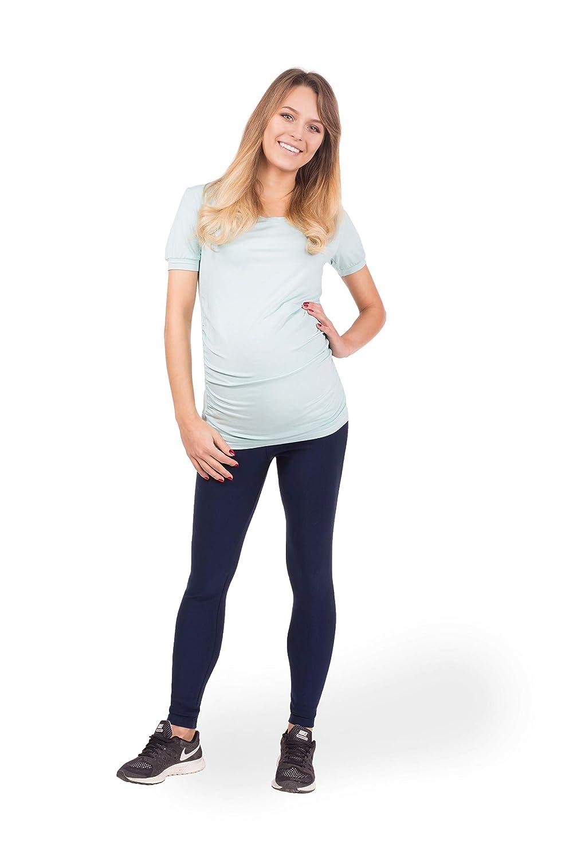 BeLady Legging de Maternité Femme en Coton Longs Jambières Pantalon Opaque  Noir Marron Bleu marine Graphite Blanc e2818fe6d63
