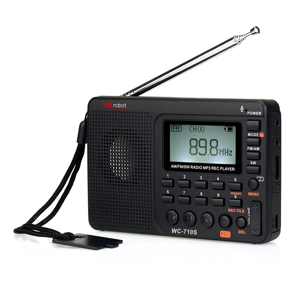 Portable Shortwave AM/FM Stereo Radio with MP3 Player and Sleep Timer