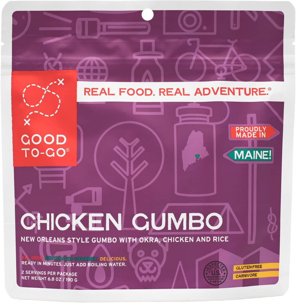 GOOD TO-GO Chicken Gumbo | Dehydrated Backpacking and Camping Food | Lightweight | Easy to Prepare