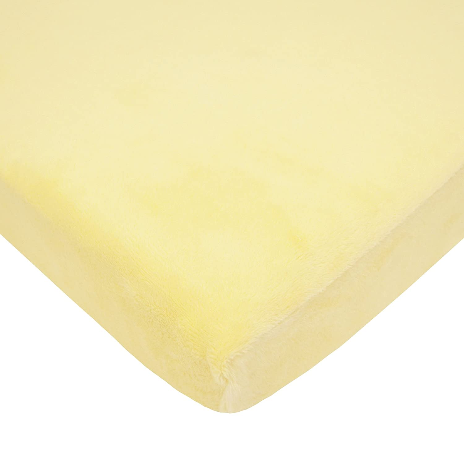American Baby Company Heavenly Soft Chenille Fitted Cradle Sheet, Maize 4551-MZ