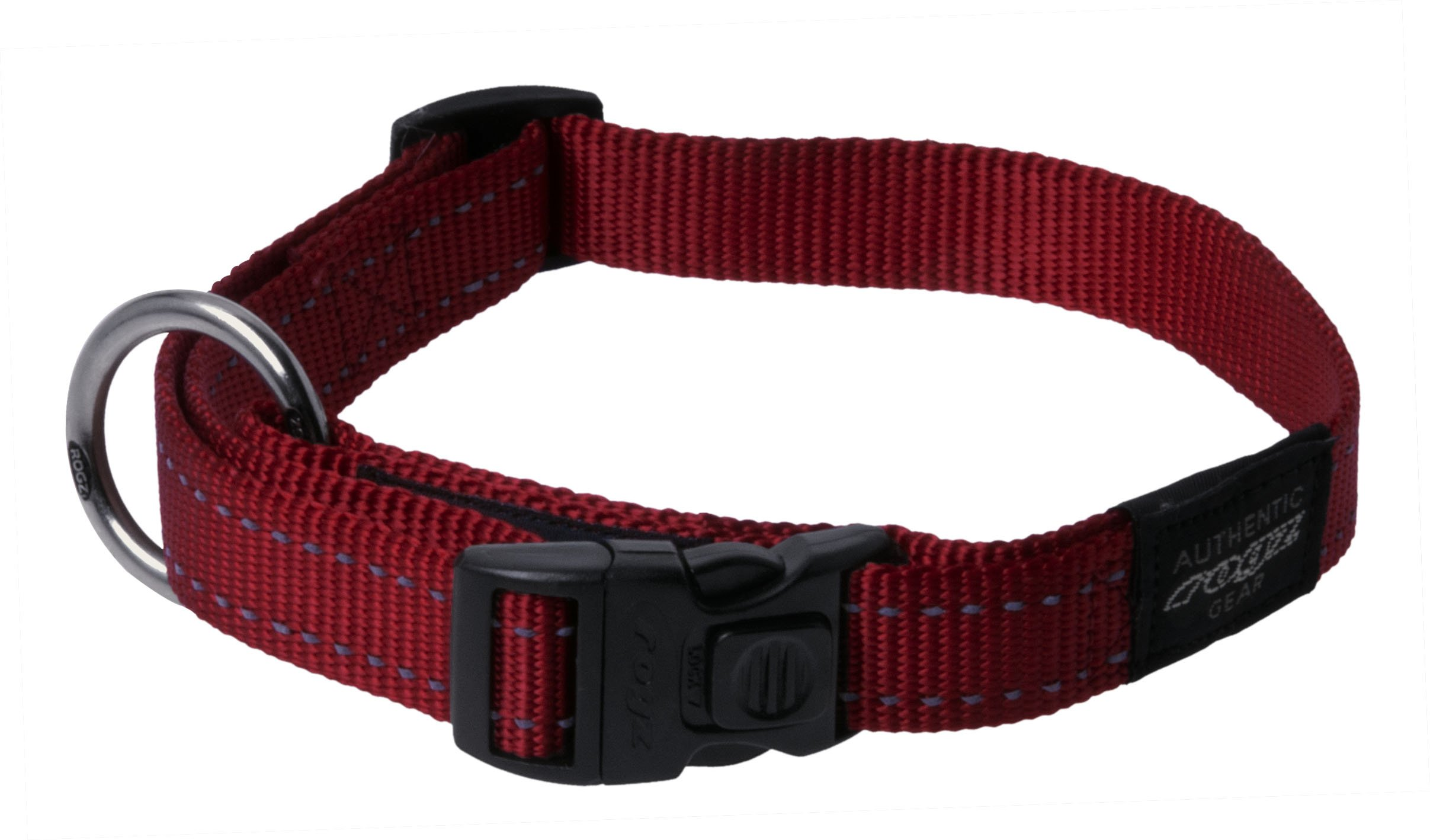 Reflective Dog Collar for Extra Large Dogs, Adjustable from 17-27 inches, Red