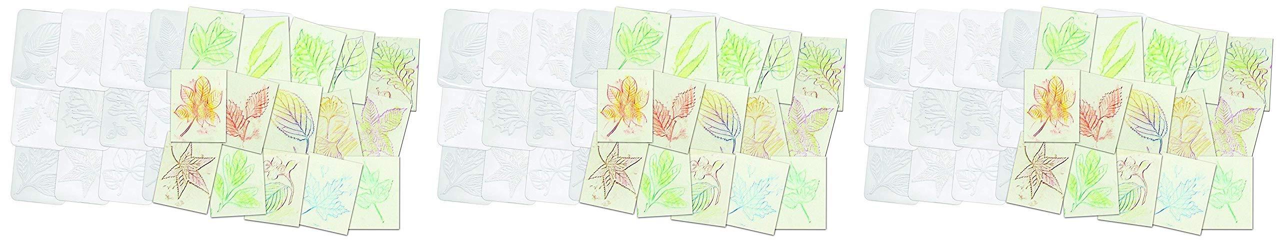 Roylco Leaf Rubbing Plates (Тhrее Расk) by Roylco