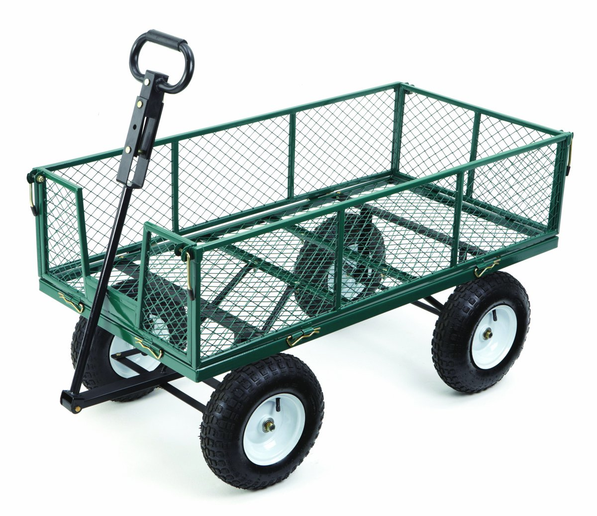 High Quality Amazon.com : Farm U0026 Ranch MH2121D Heavy Duty Steel Utility Cart With  Removable Folding Sides And 13 Inch Pneumatic Tires, 1, 000 Pound Capacity,  ...