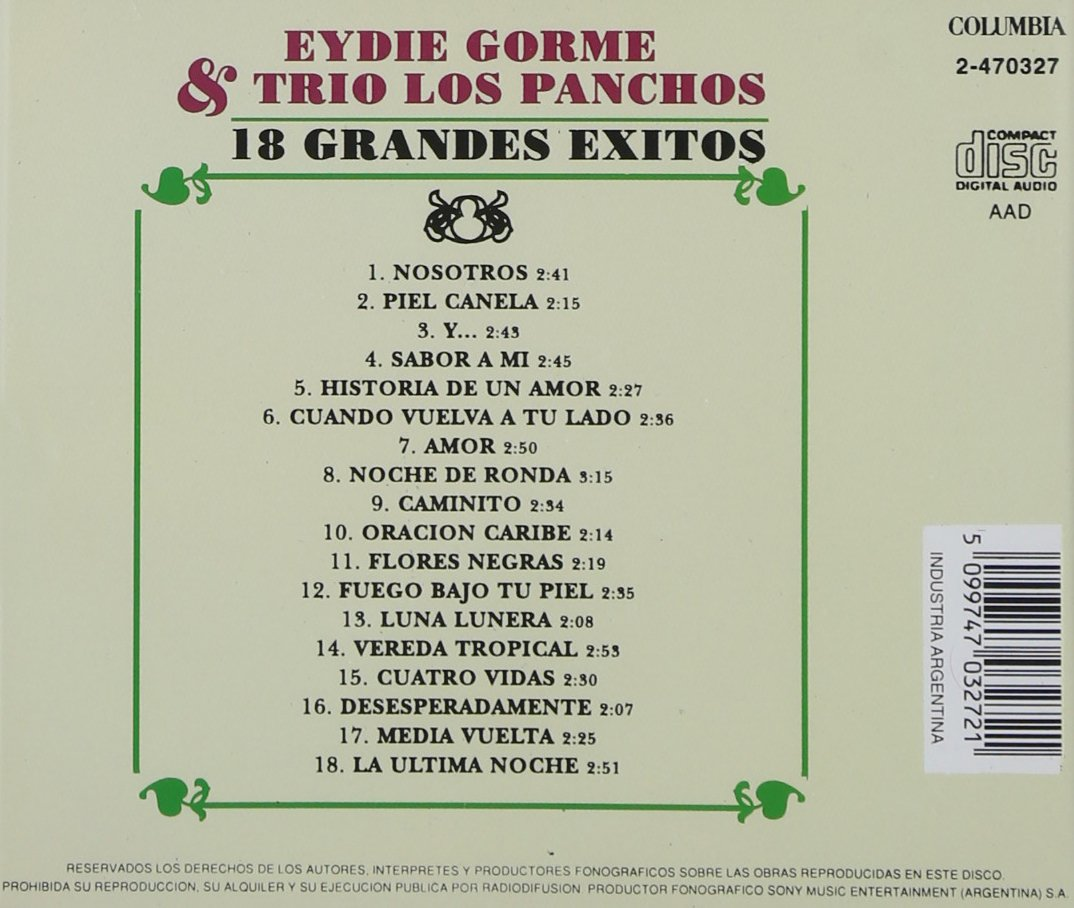 18 Grandes Exitos by Sony Import