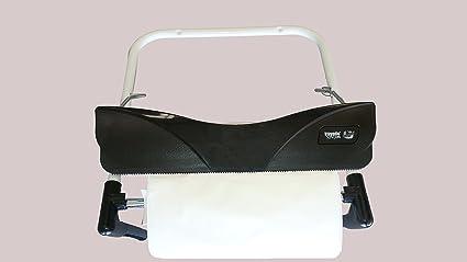 Náyade System® Dispensador de papel bobina industrial pared blanco. Con cuchilla para facilitar el