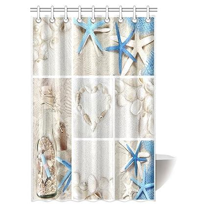 Amazon InterestPrint Collage Of Summer Seashells Decor Shower