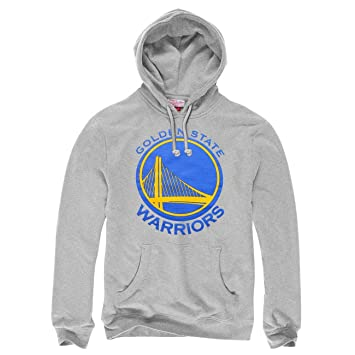Mitchell & Ness Golden State Warriors Current Logo NBA – Sudadera con capucha gris