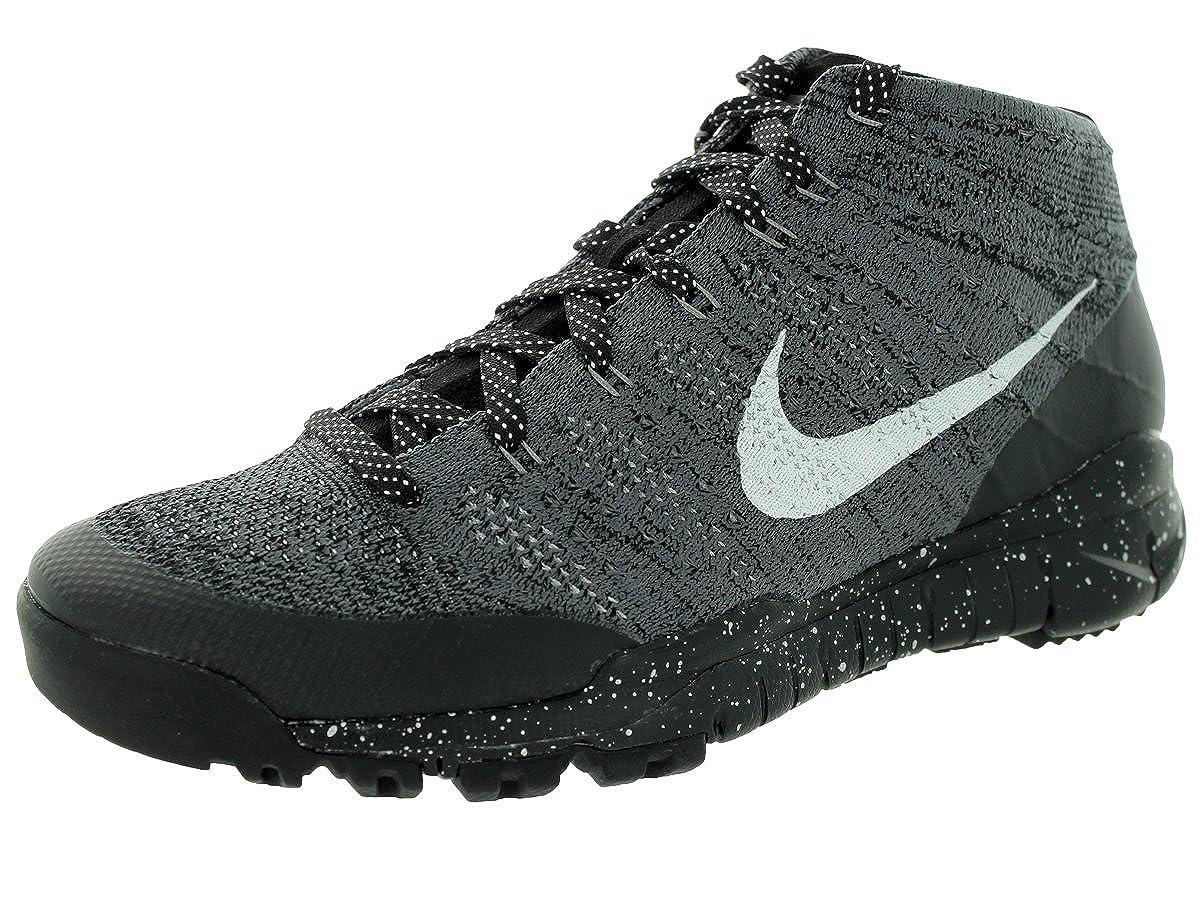 online store b6df0 8d71f Nike Flyknit Trainer Chukka FSB Sneaker Grey 625009 002, Size 40.5   Amazon.co.uk  Shoes   Bags