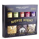Urban Accents MOVIE NIGHT™ Popcorn Kernels and Popcorn Seasoning Variety Pack (set of 8) - 3 Non-GMO Popcorn Kernal…