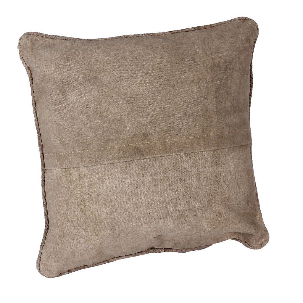 LAROUCO LOFT Cojín industrial con relleno en loneta de algodón militar. Vintage, Retro.Salón, dormitorio, habitación,estancias.Sofa,cama,sillón. ...