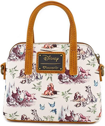 Amazon Com Loungefly X Lady And The Tramp Convertible Bow Detail Bag One Size Multicolored Clothing
