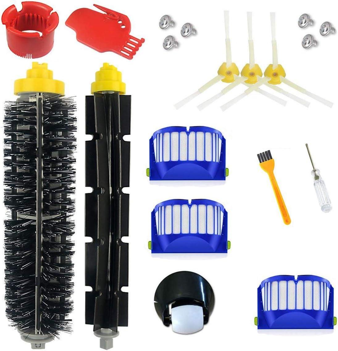 Supon - Cabezales para robot serie 600 (sustituye a cepillos de accesorios, 19 accesorios, cepillos laterales, filtro, cepillo de cerdas para aspiradora robot (600-q): Amazon.es: Hogar