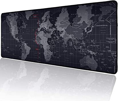 World Map Gaming Mouse Pad Quality Portable Large Desk Pad Non-slip Rubber