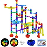 SOMAN 152Pcs Marble Run Sets for Kids, Glowing Marble Race Tracks & Marble Maze Toys with 18 Glow in The Dark Glass…