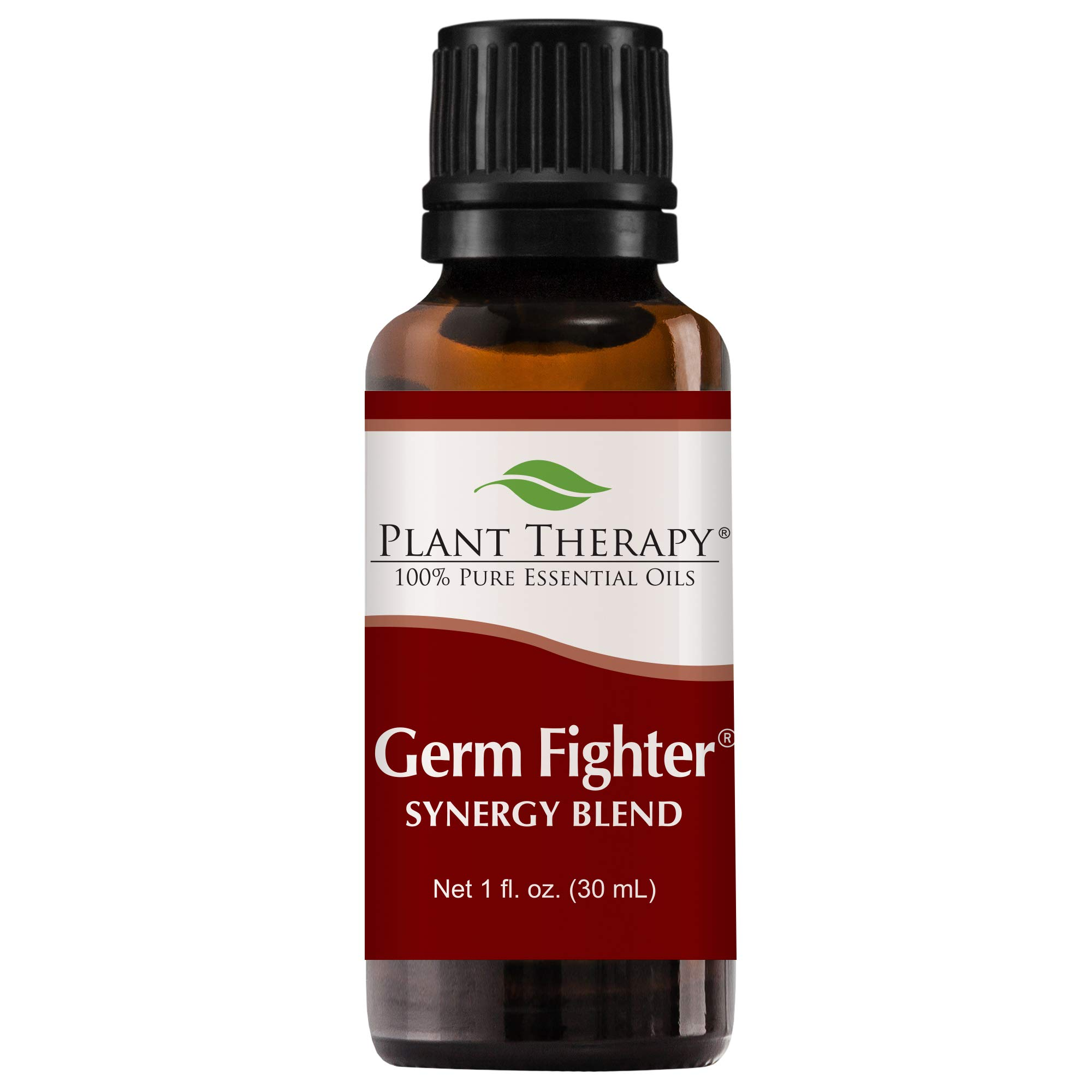 Plant Therapy Essential Oils Germ Fighter Synergy - Sinus Health and Cold Blend 100% Pure, Undiluted, Natural Aromatherapy, Therapeutic Grade 30 mL (1 oz)