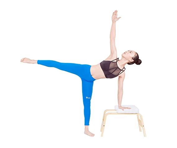 Everymile Yoga Headstand Bench - Yoga Inversion Stand Chair for Family, Gym Workout Fitness - Wood and PU Pads - Relieve Fatigue and Build Up Body