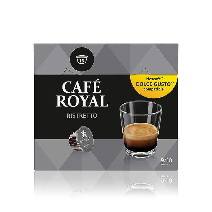 Café Royal Ristretto 48 cápsulas compatibles con Nescafé* Dolce Gusto* Intensidad: 9 de