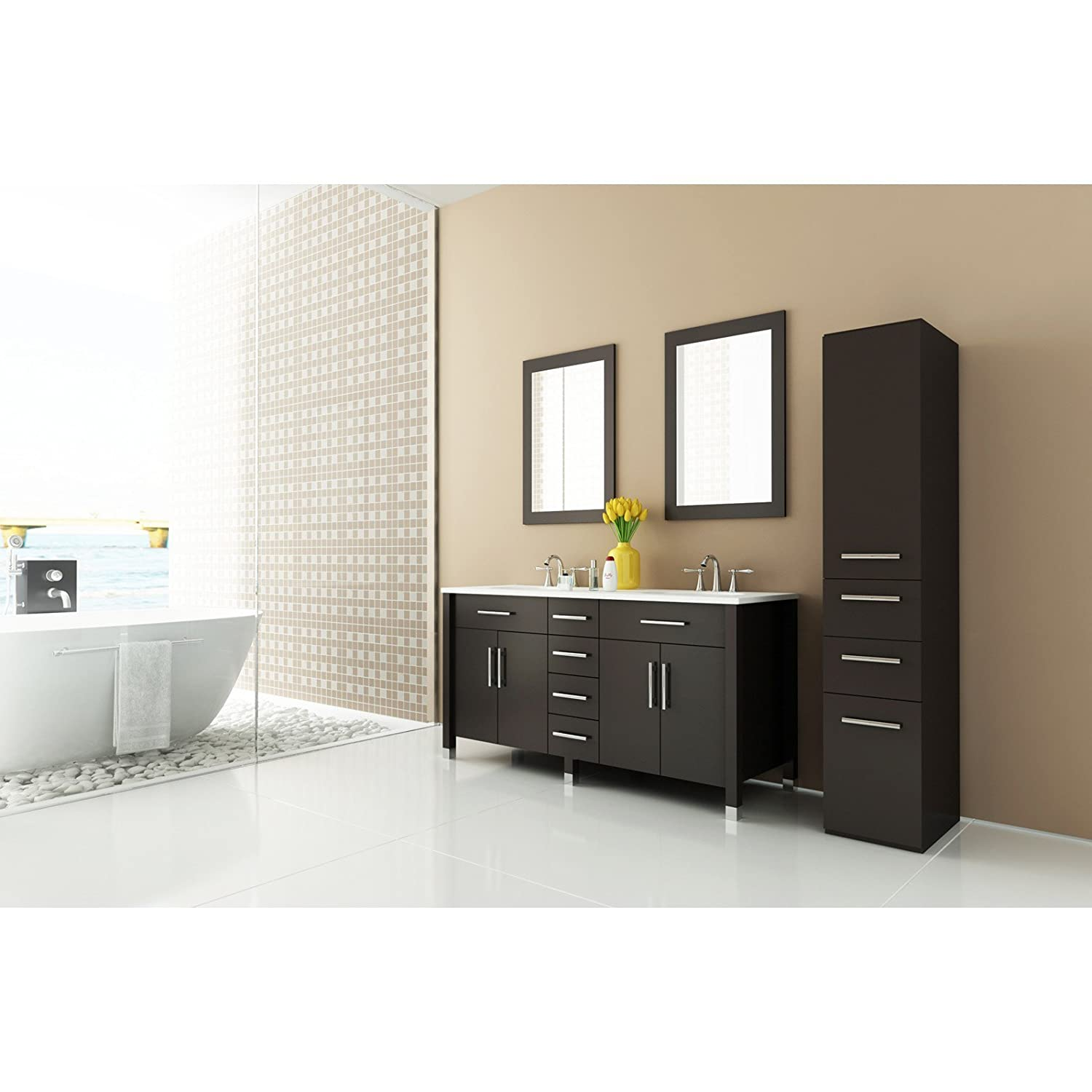 Amazon JWH Living Rana Double Bathroom Vanity Home & Kitchen