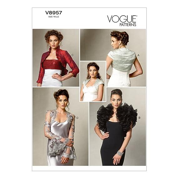McCalls Patterns Vogue 8957 - Patrón con instrucciones para coser chaquetas toreras de mujer (tallas de L a XXL): Amazon.es: Hogar