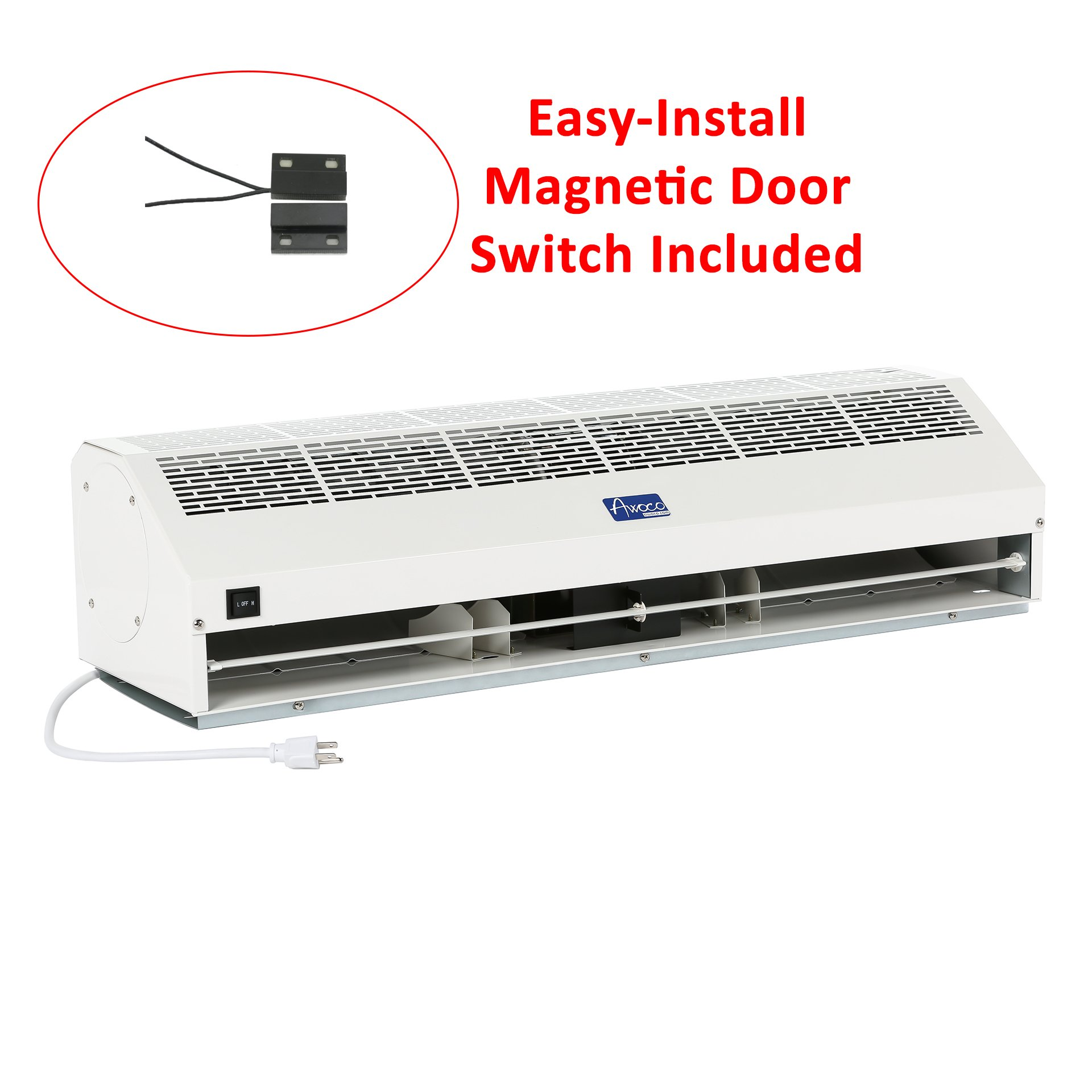 Awoco 36'' FM-1509 Super Power Commercial Indoor Air Curtain with Shutoff Delay Magnetic Switch for SwingING Doors