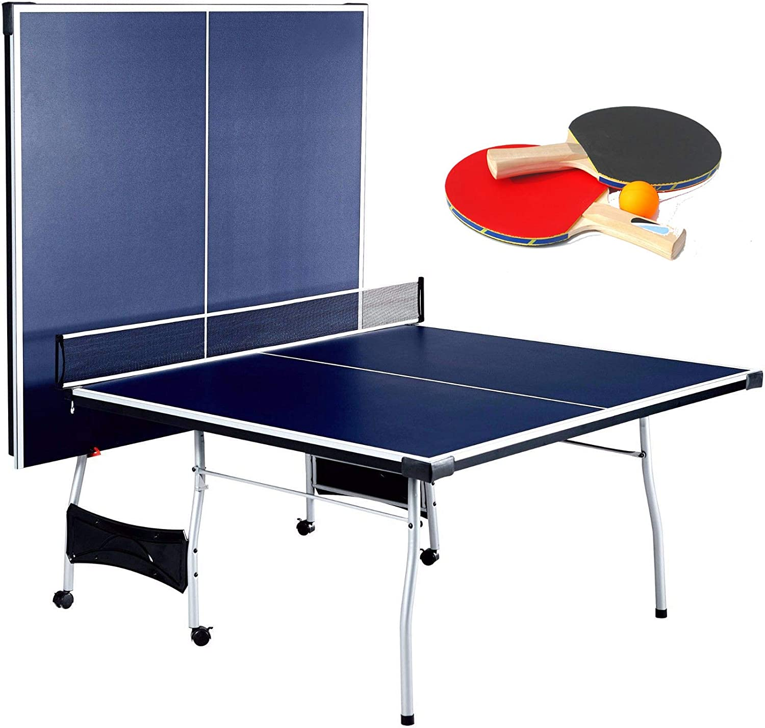 Amazon Com Selva Foldable 4 Piece Table Tennis Ping Pong Play Official Tournament Size 9 X 5 With Net Posts Paddles 2 Ball Quick Setup Heavy Duty Sturdy Durable
