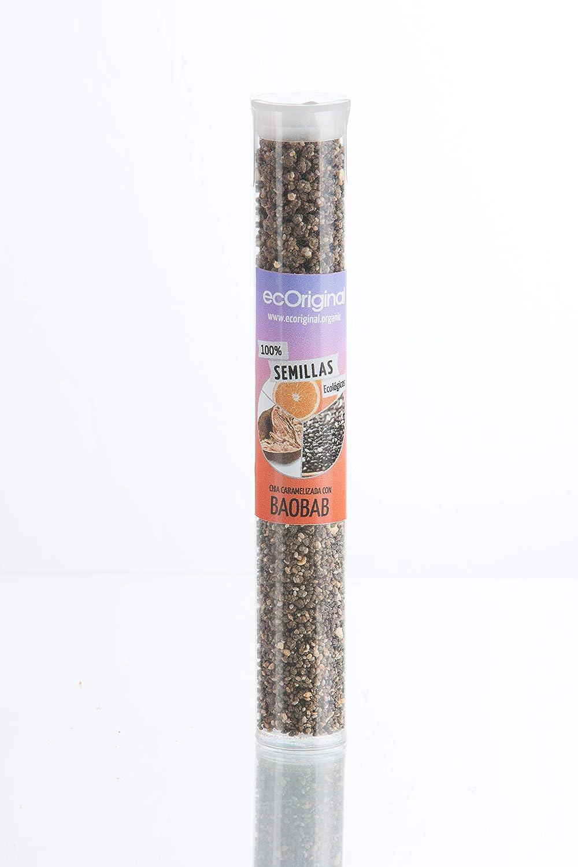 Ecoriginal, Aperitivo vegetal (Semillas de chia caramelizadas con baobab y naranja) - 8 de 70 gr. (Total: 560 gr.)