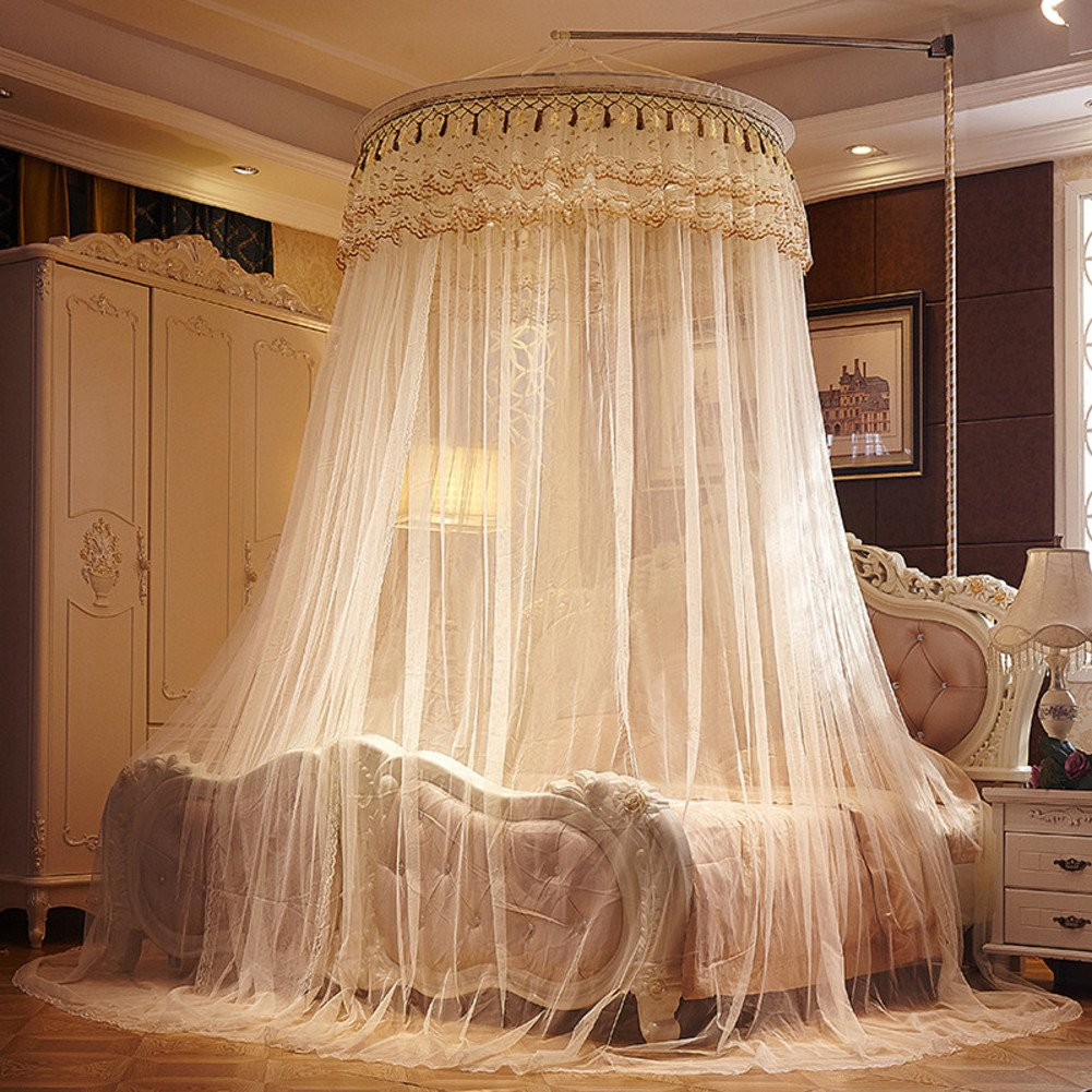 Fashion,Court Floor Dome,Ceiling Bed Net/Home Yurts Nets/Korean Princess Wind Mosquito Net/Fine Double Bed Mosquito Net-H B