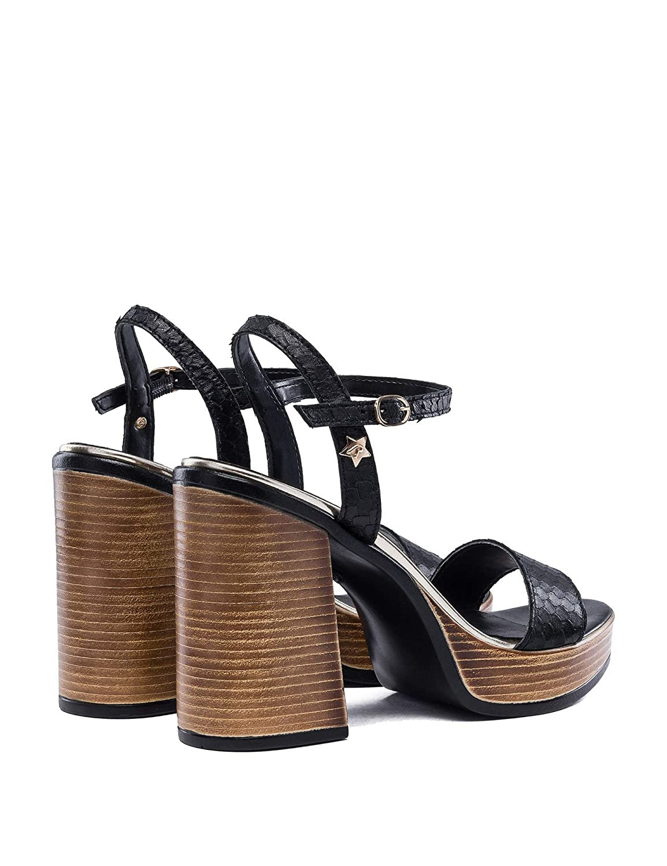 Replay Woherren High Heel Leather Sandals schwarz in in in Größe 36  99cb7d